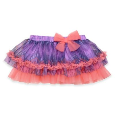 Baby Starters® Size 6M Chevron Print Tutu Skirt in Purple/Pink