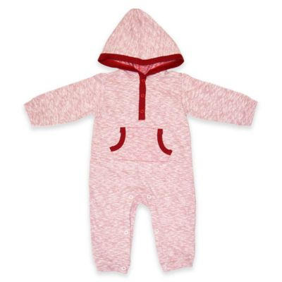 Kapital K™ Size 3-6M Jersey Hooded Coverall in Red
