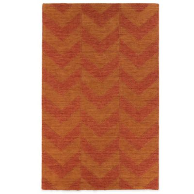 5' 6 Brown Red Room Rug