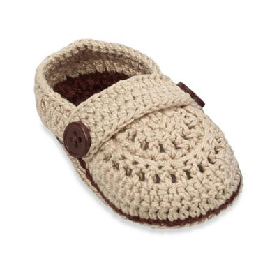 Jefferies Socks Newborn Mocs Bootie in Khaki