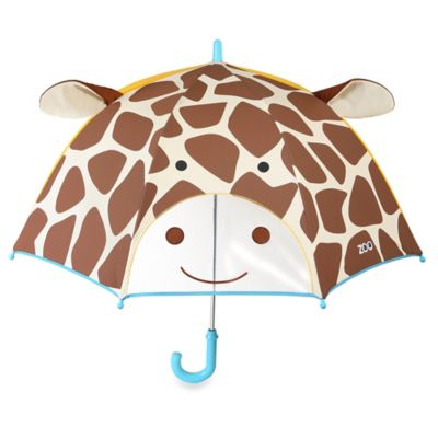 SKIP*HOP® Zoobrella Little Kid Giraffe Umbrella in Brown