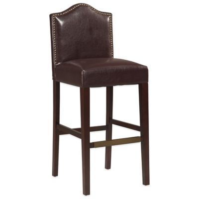 Linon Home Manor 24-Inch Counter Stool in Blackberry