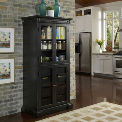 Home Styles Americana China Pantry with Oak Finish
