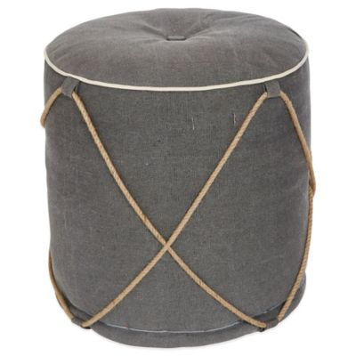angelo:HOME Pouf Drum in Marco Grey Rope