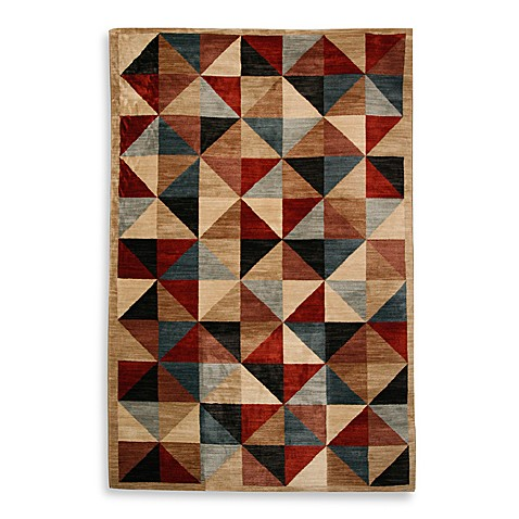 Parquetry Blueberry Room Size Rug
