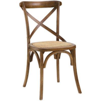 Modway Gear Dining Side Chair in Walnut