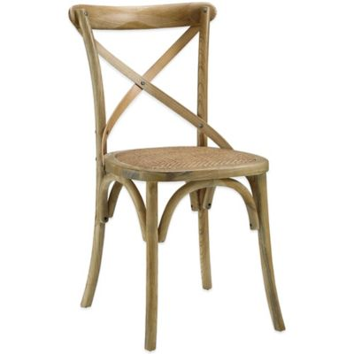 Modway Gear Dining Side Chair in Natural