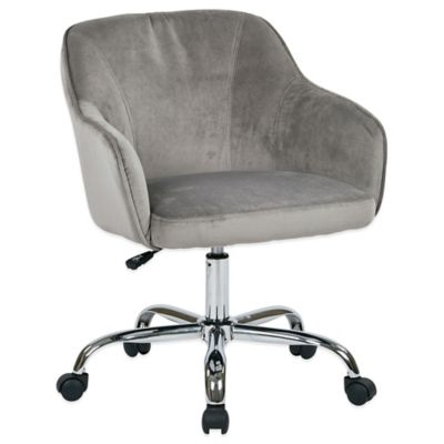 Office Star® Products Bristol Task Chair in Charcoal Velvet Fabric