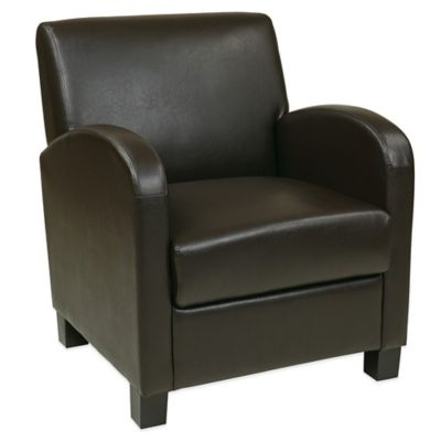 Office Star Products Eco Leather Club Chair in Espresso