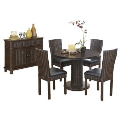 Home Styles Castaway 6-Piece Dining Table with Buffet Set