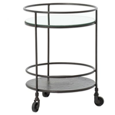 Urban Oasis Kelso Round Mirrored Side Table