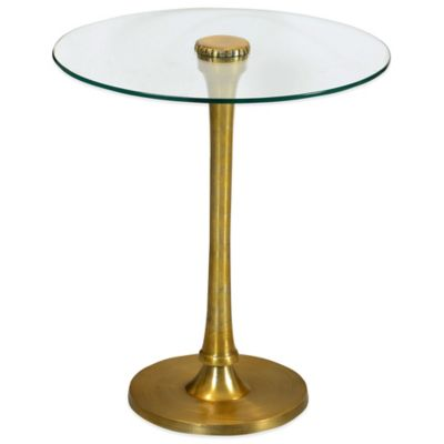 Thorton Side Table in Brushed Brass