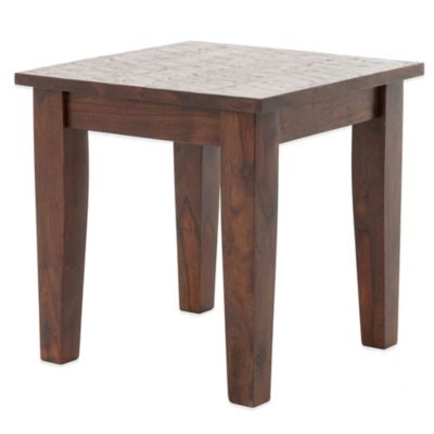 Urban Oasis Oxford End Table in Dark Oak