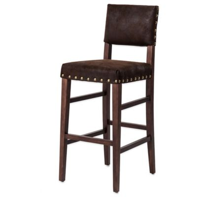 Skye Barstool Chair in Brown