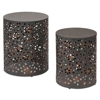 Middleton Round Metal Accent Tables (Set of 2)