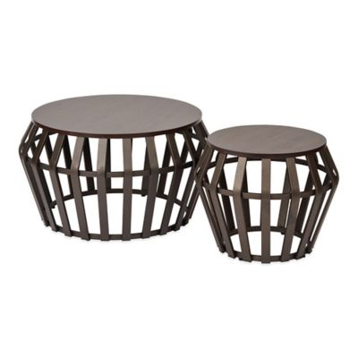Solana Round Accent Tables in Bronze (Set of 2)