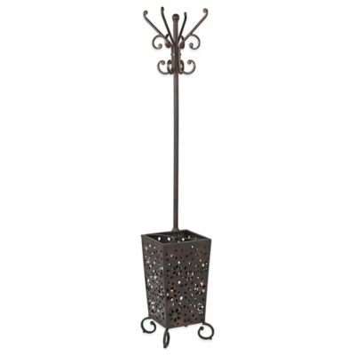 Middleton Coat Rack with Umbrella Stand in Bronze