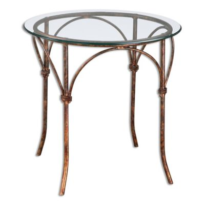 Uttermost Stasia Glass Accent Table