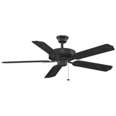 AireDécor by Fanimation 52-Inch x 13-Inch Damp Location Ceiling Fan in Black