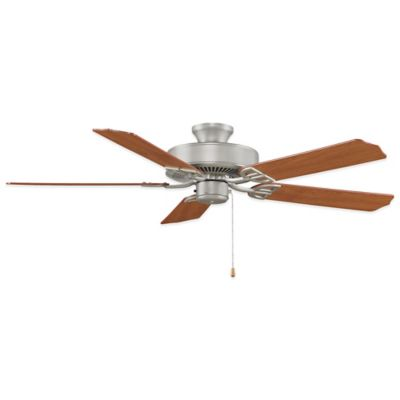 AireDécor by Fanimation 52-Inch x 13-Inch Satin Nickel Ceiling Fan with Walnut/Cherry Blades