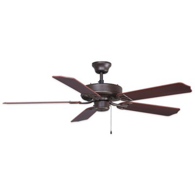 AireDécor by Fanimation 52-Inch x 13-Inch Bronze Ceiling Fan with Walnut/Cherry Blades