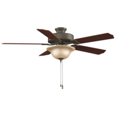 AireDécor by Fanimation 52-Inch x 19.3 Inch Ceiling Fan with Light Kit in Matte White