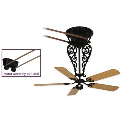 Fanimation Bourbon Street® 52-Inch x 36-Inch Belt-Drive Ceiling Fan in Black
