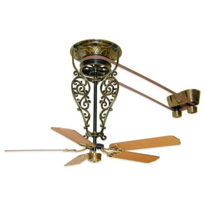 Fanimation Bourbon Street 52-Inch x 36-Inch Belt-Drive Ceiling Fan in Antique Brass