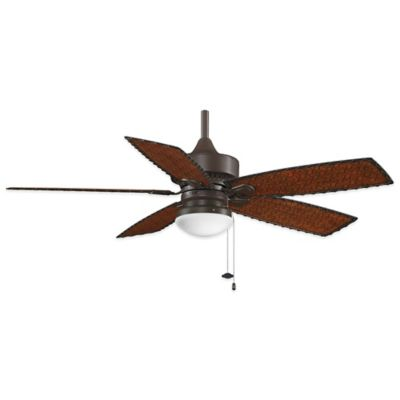Fanimation Cancun™ 52-Inch x 17-Inch Ceiling Fan with Bamboo Blades in Oil Rubbed Bronze