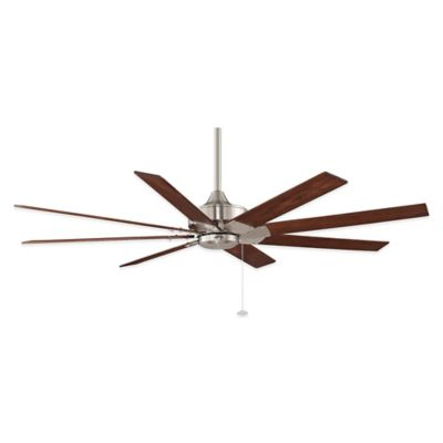 Brushed Nickel and White Ceiling Fan
