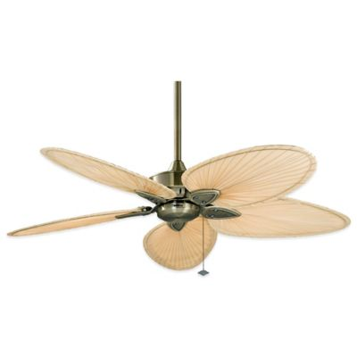 Fanimation Windpointe™ 52-Inch x 14.5-Inch Ceiling Fan with Palm Blades in Antique Brass