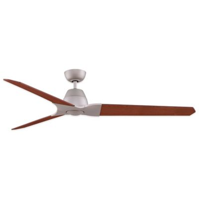 Fanimation Wylde™ 72-Inch x 17.6-Inch Ceiling Fan with Light Kit in Satin Nickel
