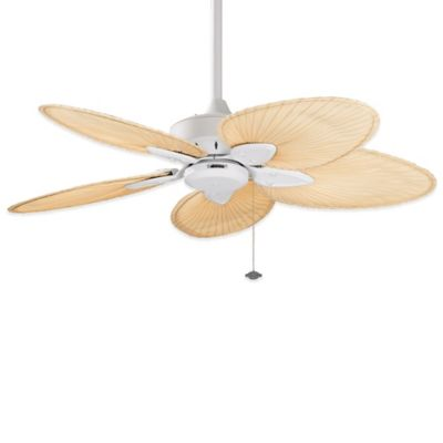 Fanimation Windpointe 44-Inch Ceiling Fan in White/Natural Palm