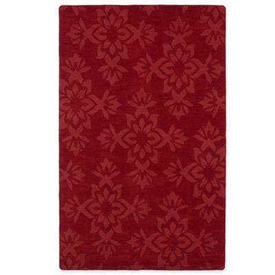 Kaleen Imprints Classic 5-Foot x 8-Foot Rug in Red