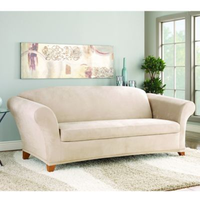 Sure Fit® Stretch Sterling 2-Piece Sofa Cover in Camel