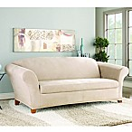 Stretch Suede Taupe 2-Piece Sofa Slipcover by Sure Fit®