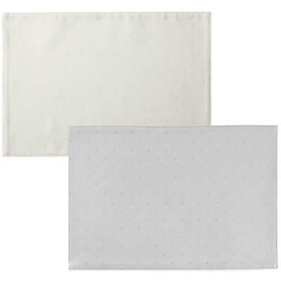 kate spade new york Larabee Dot Placemat in Platinum