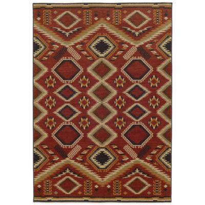 Tommy Bahama® Voyage Diamond 1-Foot 10-Inch x 7-Foot 6-Inch Runner in Red