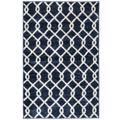 Mohawk Home Silk Elegance 1-Foot 8-Inch x 2-Foot 10-Inch Rug in Blue