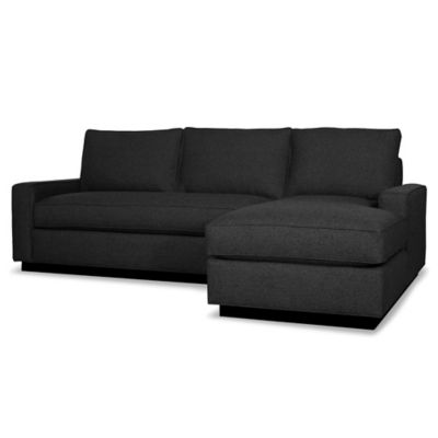Kyle Schuneman for Apt2B Harper 2-Piece Right Arm Facing Sectional with Black Base in Baltic