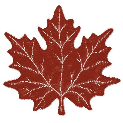 Heritage Lace® Maple Leaf Placemat in Paprika