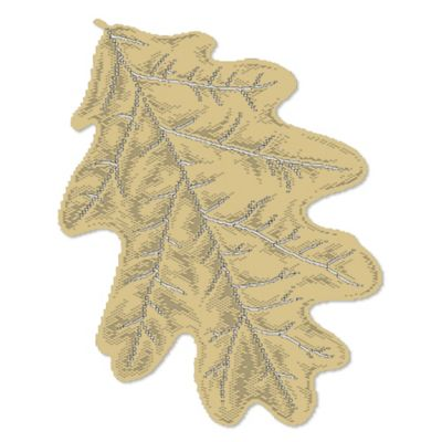 Heritage Lace® Oak Leaf Placemat in Goldenrod