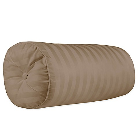 Throw Pillow Bolster : 500-Thread-Count Damask Stripe Bolster Throw Pillow - www.BedBathandBeyond.com