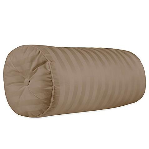 500-Thread-Count Damask Stripe Bolster Throw Pillow - www.BedBathandBeyond.com