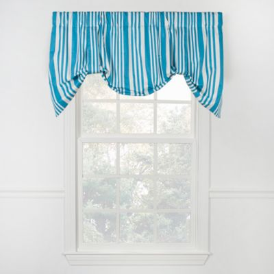 Piper Stripe Tie Up Valance in Navy