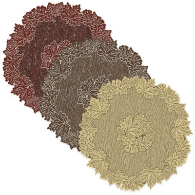 Heritage Lace® Leaf 36-Inch Round Table Topper in Dark Paprika