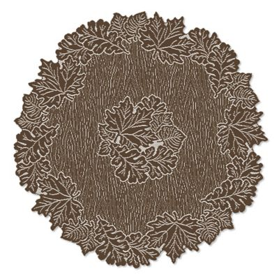 Heritage Lace® Leaf 36-Inch Round Table Topper in Earth