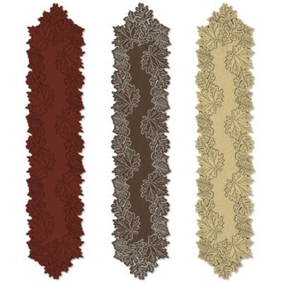 Heritage Lace® Leaf 36-Inch Table Runner in Goldrenrod