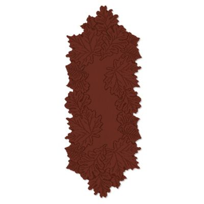 Heritage Lace® Leaf 36-Inch Table Runner in Dark Paprika