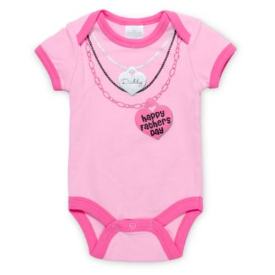 "Cutie Pie® Size 6M ""Happy Father's Day"" Bodysuit in Pink"